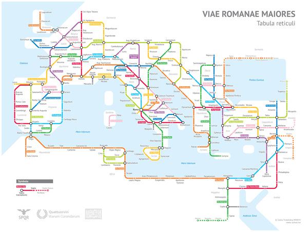 Roman roads, subway style. I ordered a print.