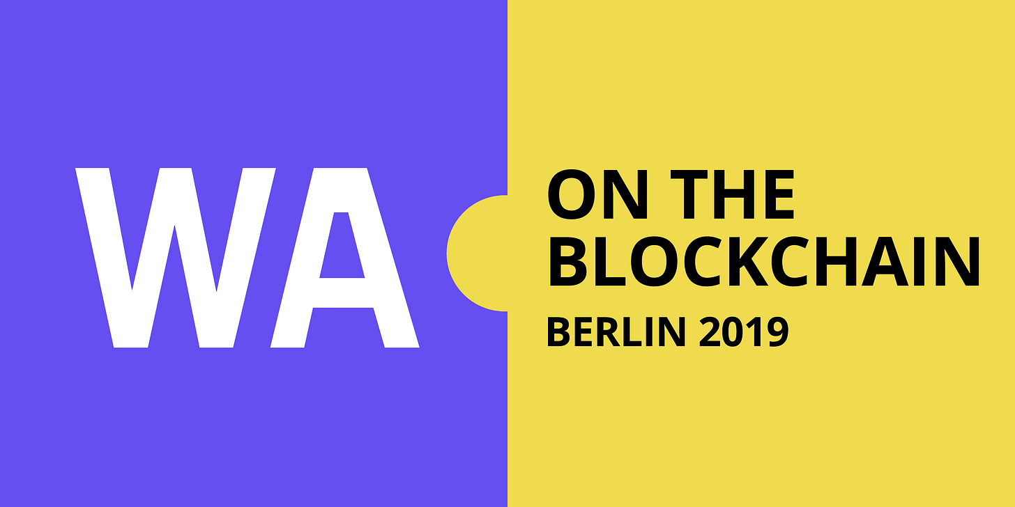 Wasm on the blockchain Berlin 2019