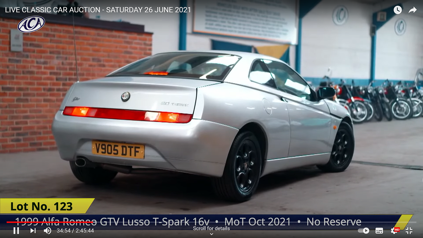 GTV at the start of the auction