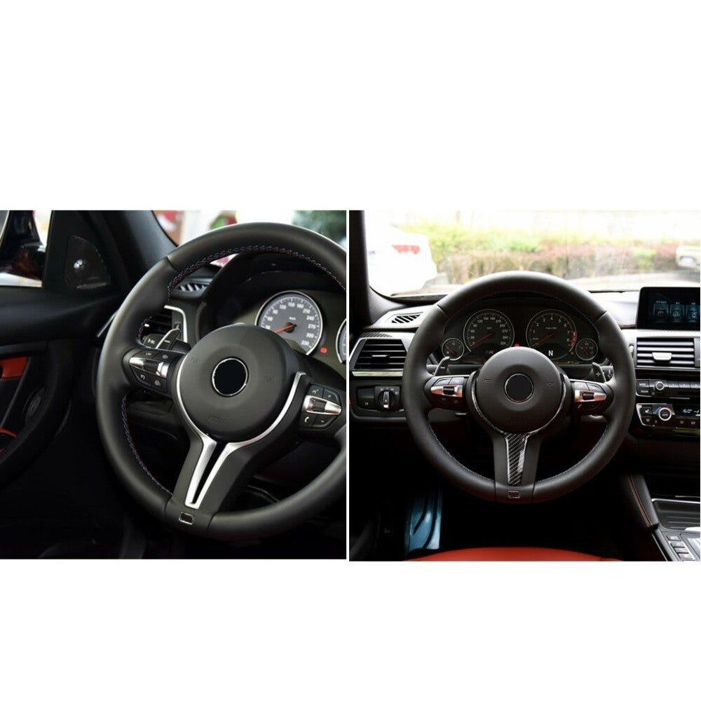 Real Carbon Fiber Steering Wheel Replacement Cover Trim For BMW F10 F20 F22 F30 F31 F32 F33 F36 F12 F13 F15 F16 M-sport Only