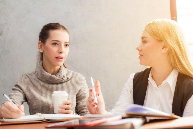 Women asking questions