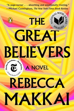 Cover of The Great Believers by Rebecca Makkai