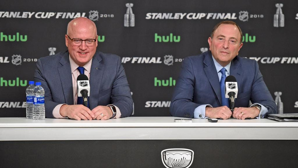 Bettman, Daly honored in Toronto by Business of Hockey Institute