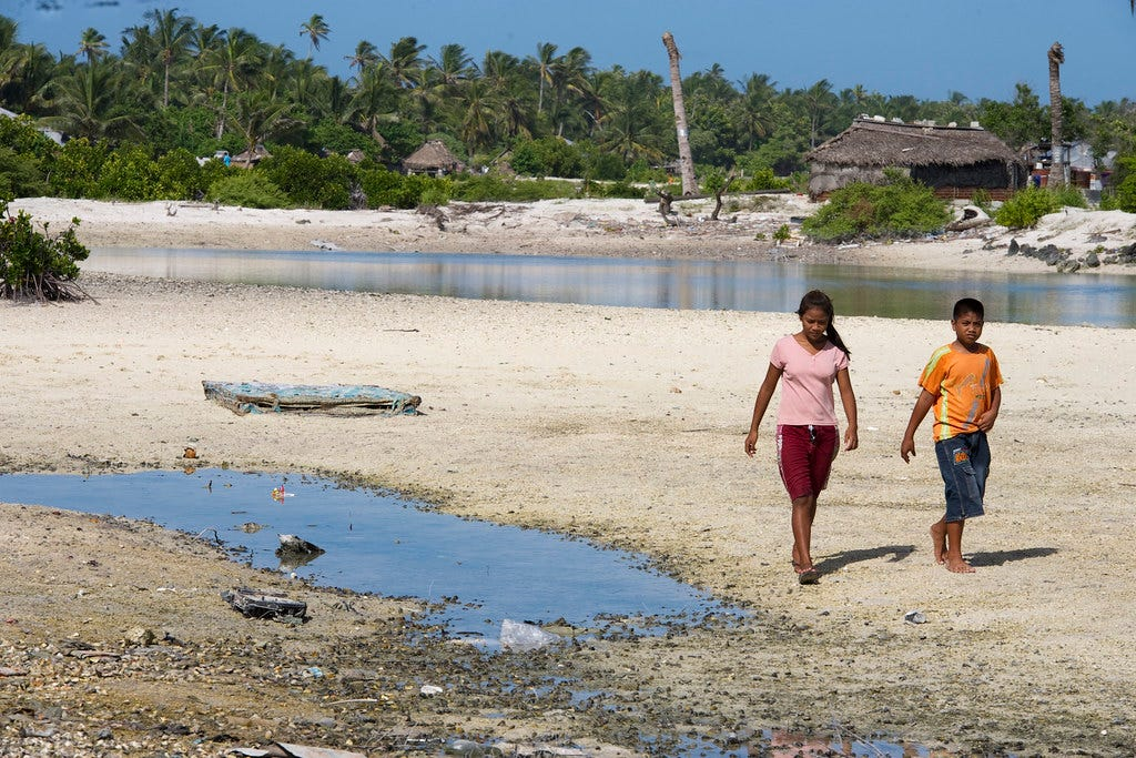 Island Nation of Kiribati Affected by Climate Change