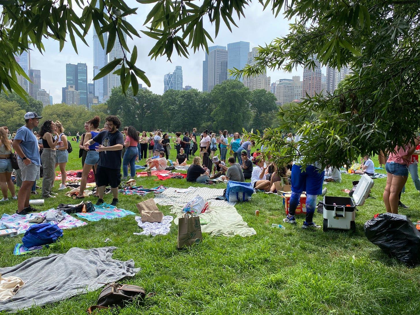 Marissa Meizz meet-up in Central Park on July 11