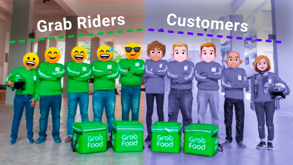 Grab Delivery Riders and Customers