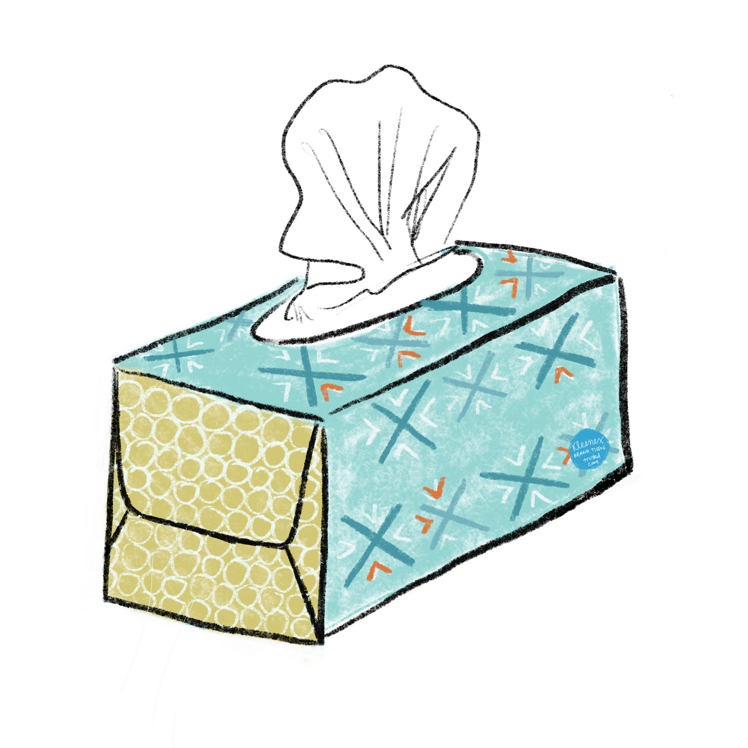 Illustration of a box of Kleenex tissues