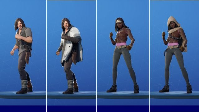 Fortnite: The Walking Dead's Daryl Dixon and Michonne skins now available