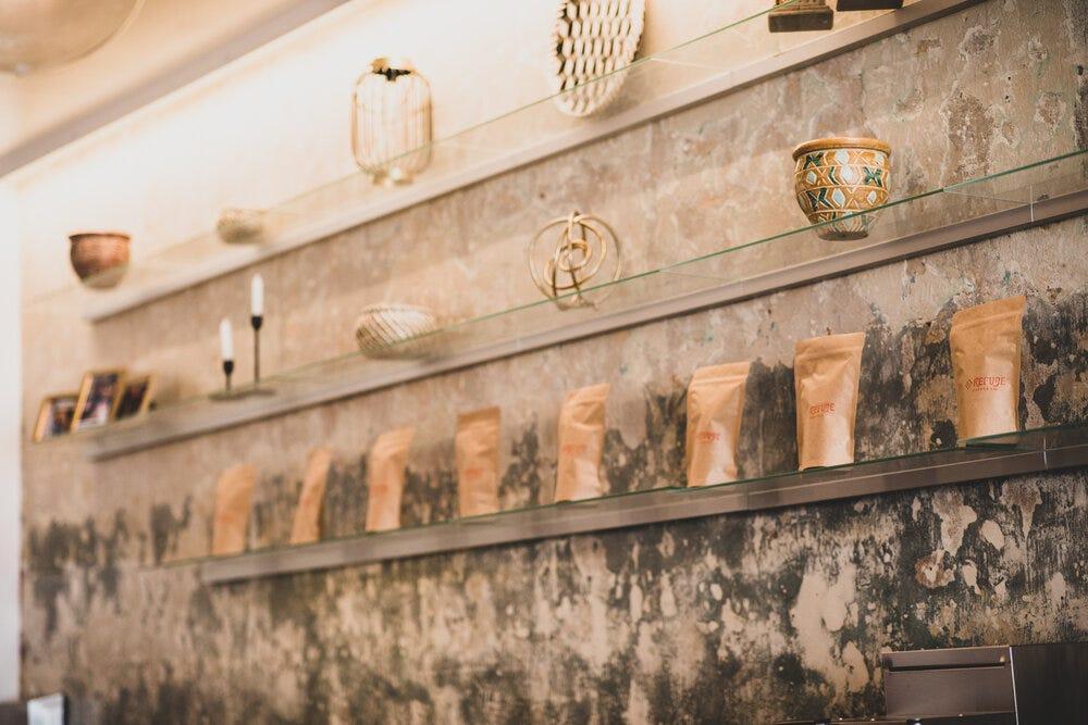 The back wall of Refuge Coffee Co. in Sweet Auburn.