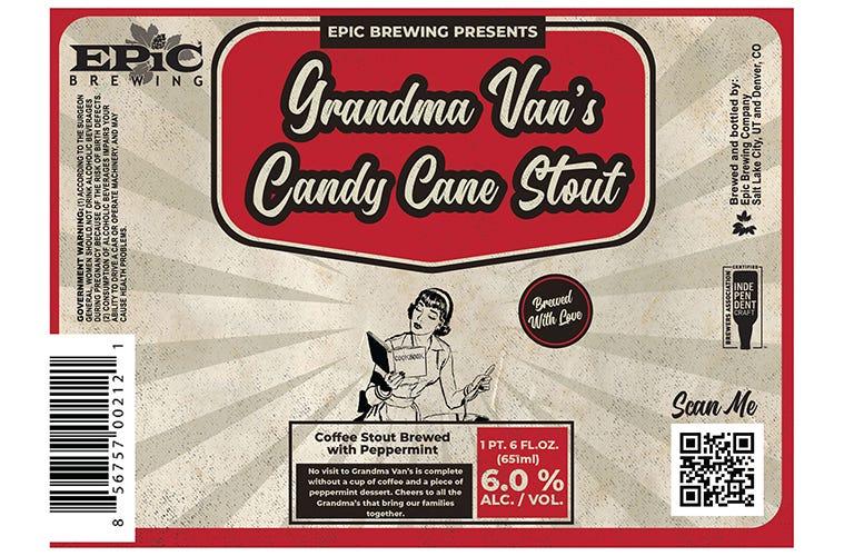Epic Files Label For Grandma Van's Candy Cane Stout – Tenemu