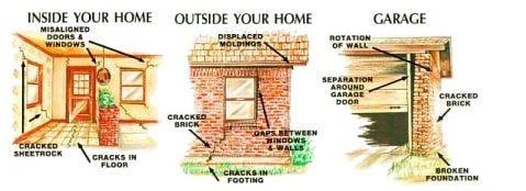 Recognizing foundation problems: Inside, outside, & garage
