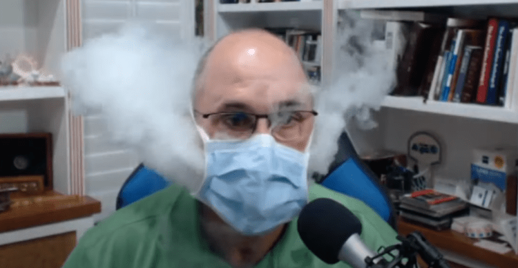 VIDEO: Doctor Vapes Through Face Masks, Shows Thick Clouds Escape Through Sides, Bottom, and Top