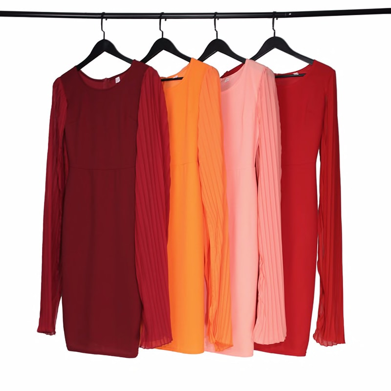 500696307 Md Large Size 3xl Dress Women Pleated Red Dress South Africa Ladies Clothes Bodycon Sexy Dresses 2020 Spring Summer Robe Party Novelty Special Use World Apparel