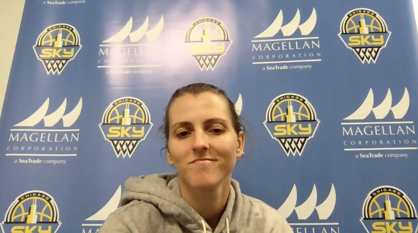 Allie Quigley. (Screenshot from WNBA Content Network)