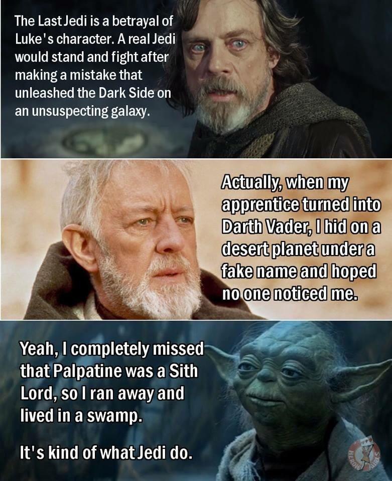 Jedi bail...it's what they do.: TheLastJedi