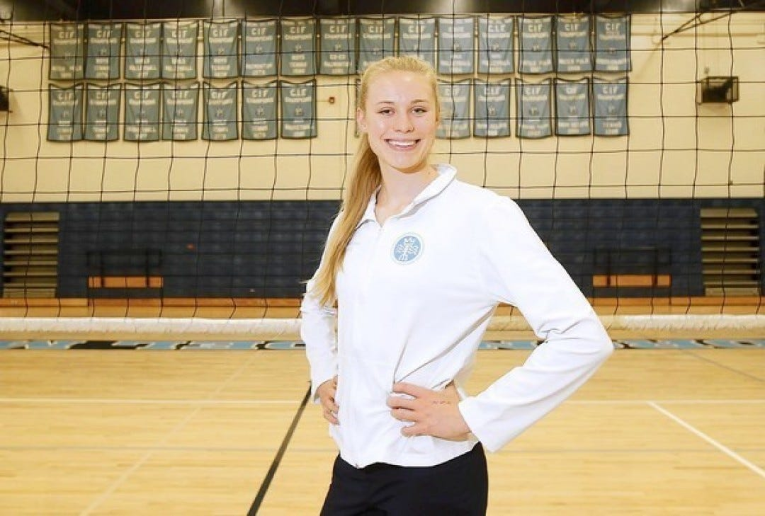 Hayley Hodson was a standout volleyball player at Corona del Mar High School.