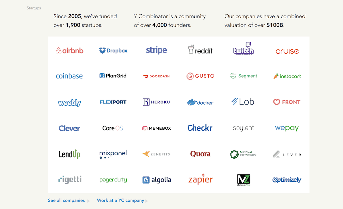 List of the most successful companies to emerge from Y Combinator   by The  Alpha Signal   Medium