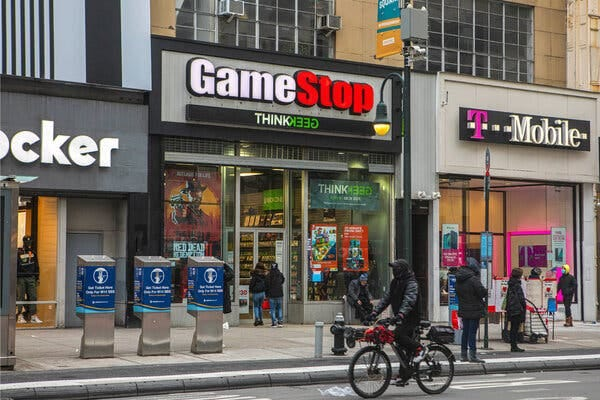 A GameStop shop near Union Square in Manhattan.