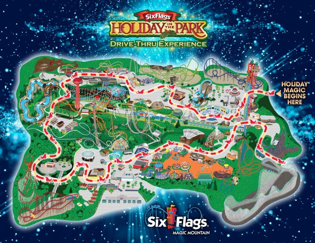 Holiday in the Park Drive-thru Experience | Six Flags Magic Mountain