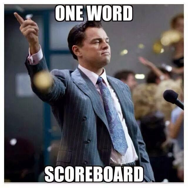 Image result for scoreboard meme