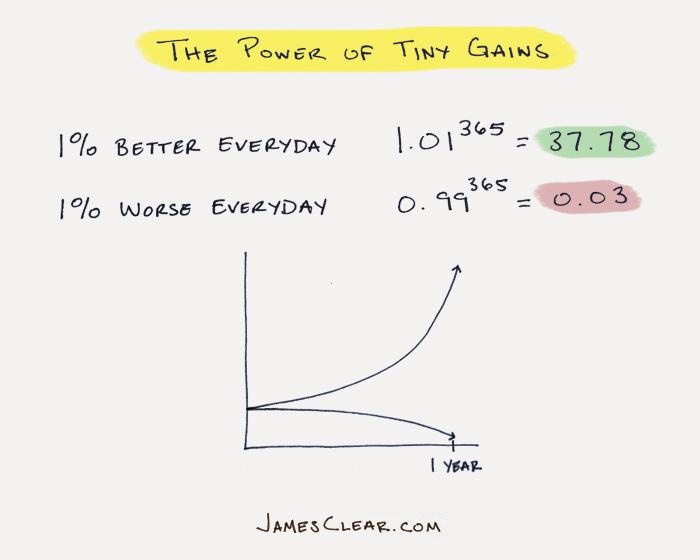 tiny gains with habits (build new habits)