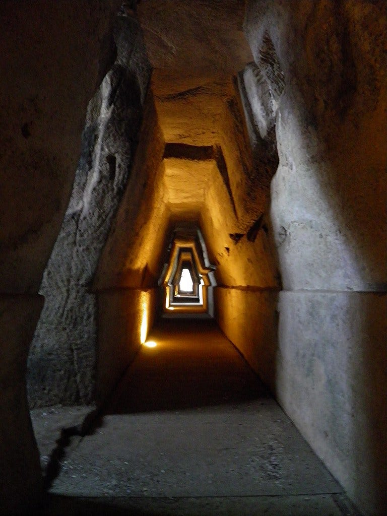 """""""Entrance to the Cave of the Sibyl, Cumae"""" by Following Hadrian is licensed under CC BY-SA 2.0"""