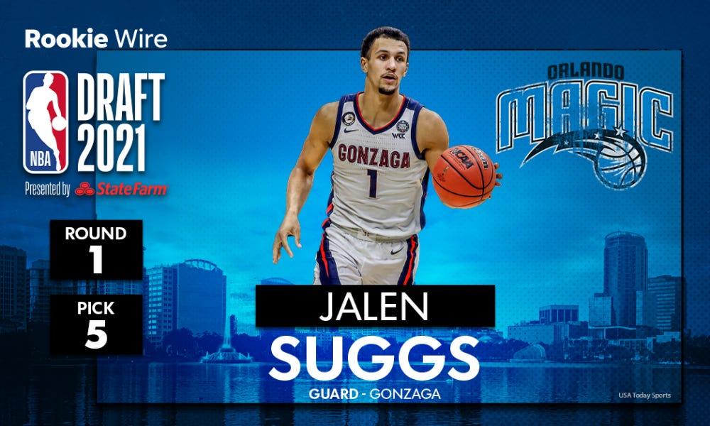 Magic pick Gonzaga guard Jalen Suggs with No. 5 overall pick