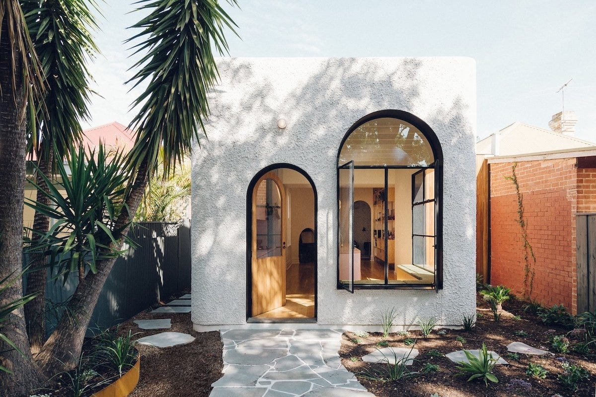 Modern homes with arched doorways