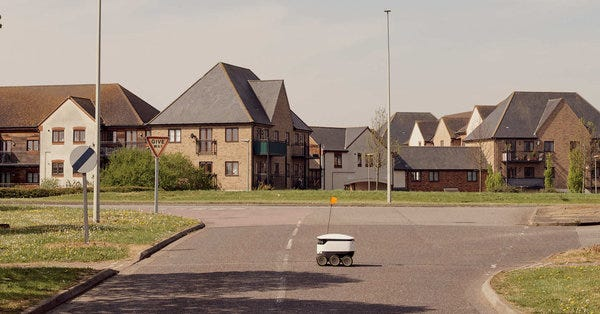 A city locks down to fight Coronavirus, but robots come and go.