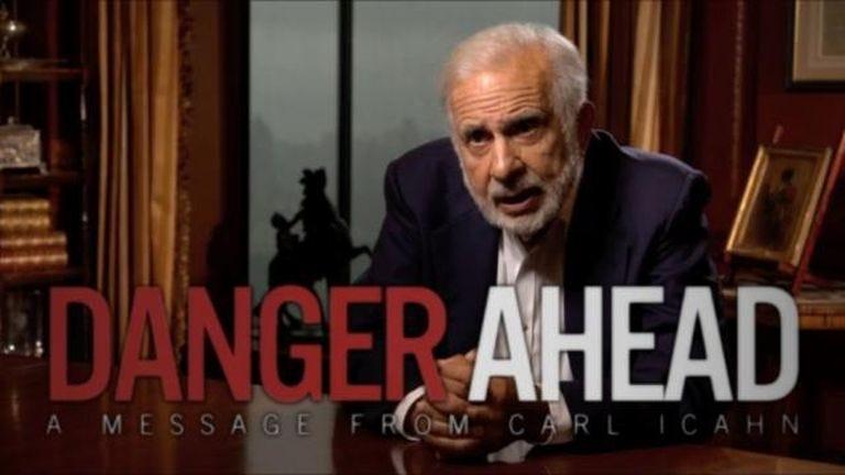 Image result for carl icahn danger ahead