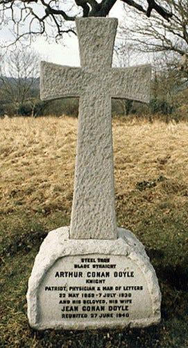 Tombstone at Grave of Sir Arthur Conan Doyle | Photo taken e… | Flickr