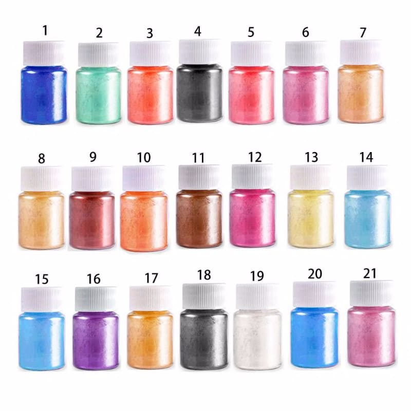 21 Colors Aurora Resin Mica Pearlescent Pigments Colorants Epoxy Resin Mold Jewelry Making jewelry Tools