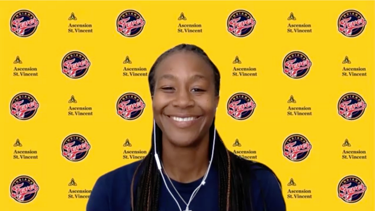 Tamika Catchings. (Screenshot from WNBA Content Network)
