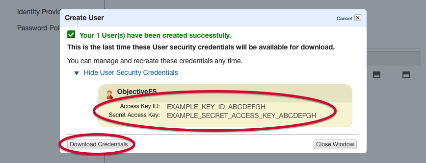 How To Get Amazon S3 Access Keys   ObjectiveFS