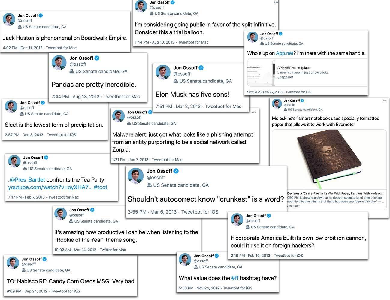 Many dorky Ossoff tweets
