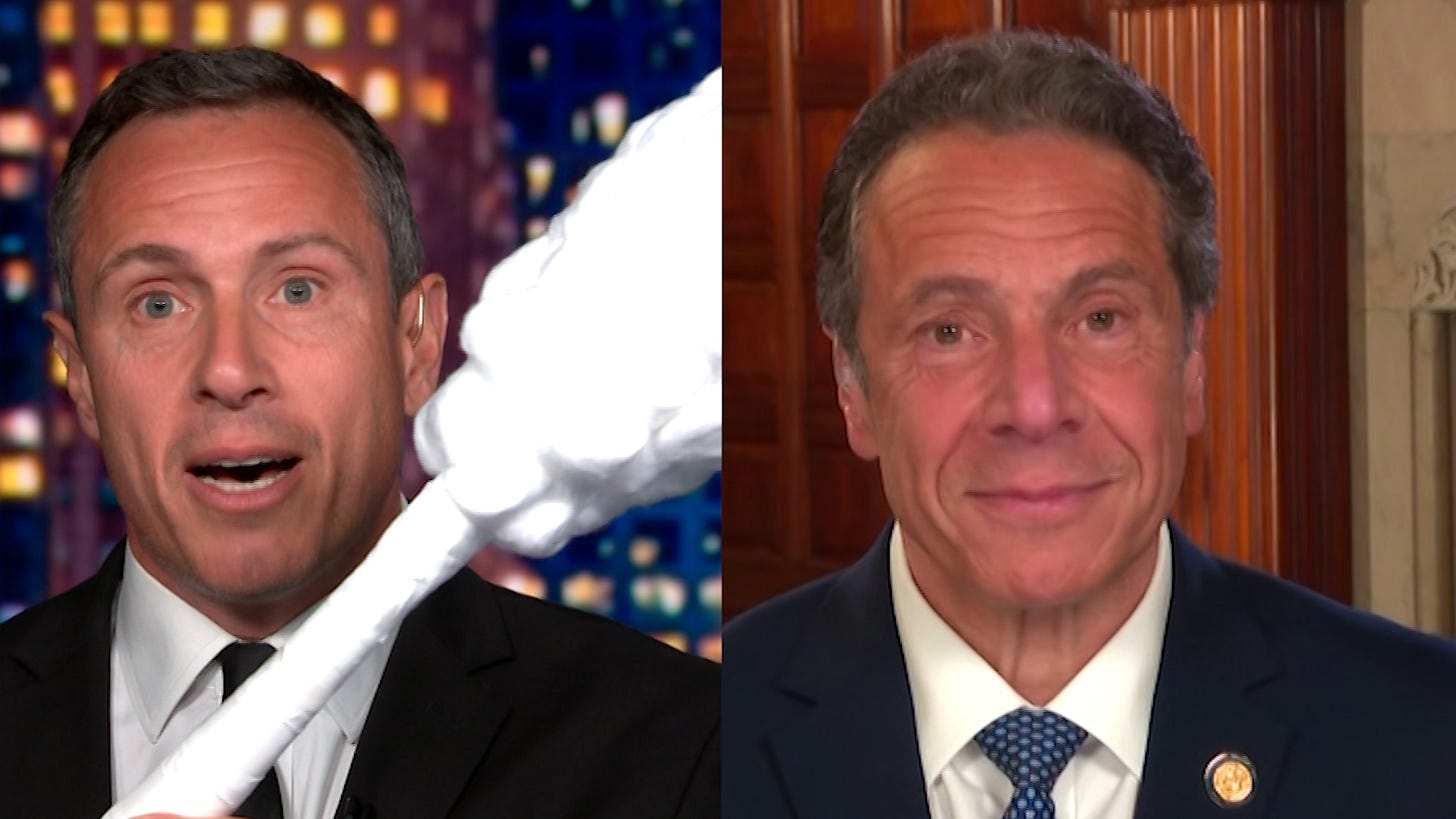 Chris Cuomo teases brother Andrew Cuomo with giant test swab - CNN Video
