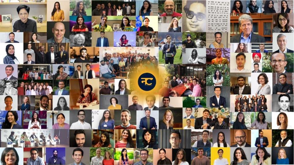 May be an image of 18 people, including Prateek Jain, Sanvar Oberoi, Luis Miranda and Tarun Khanna and people standing