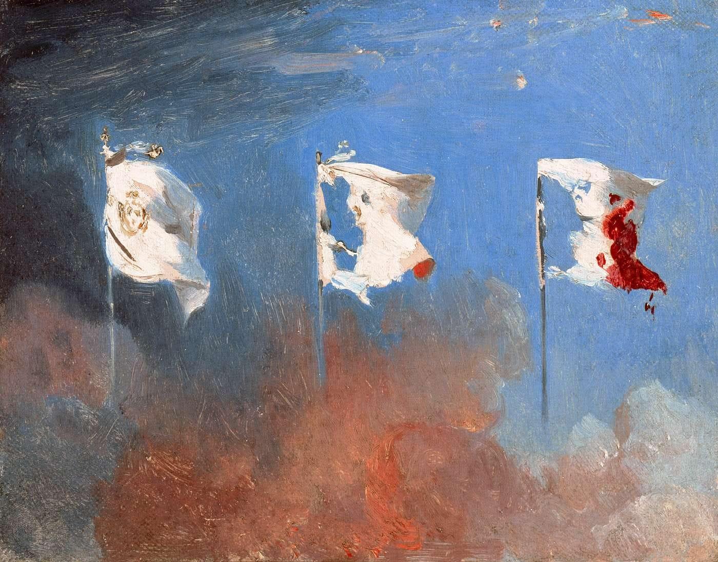 Scène de juillet 1830 by Léon Cogniet