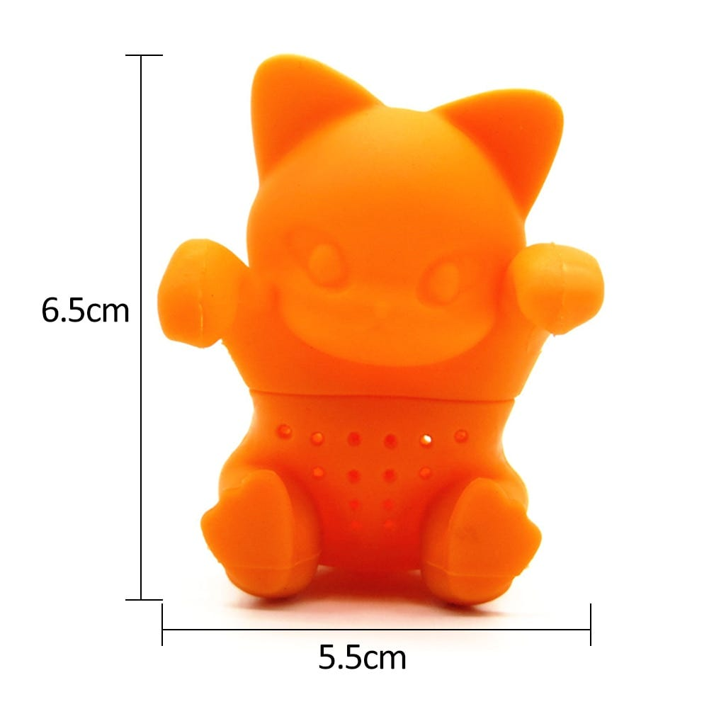 Cute Kitten Shaped Silicone Tea Infuser  Tea Maker Tea Bags Teapot Silicone Infusers Coffee Filters Silica Gel Hanging Cup