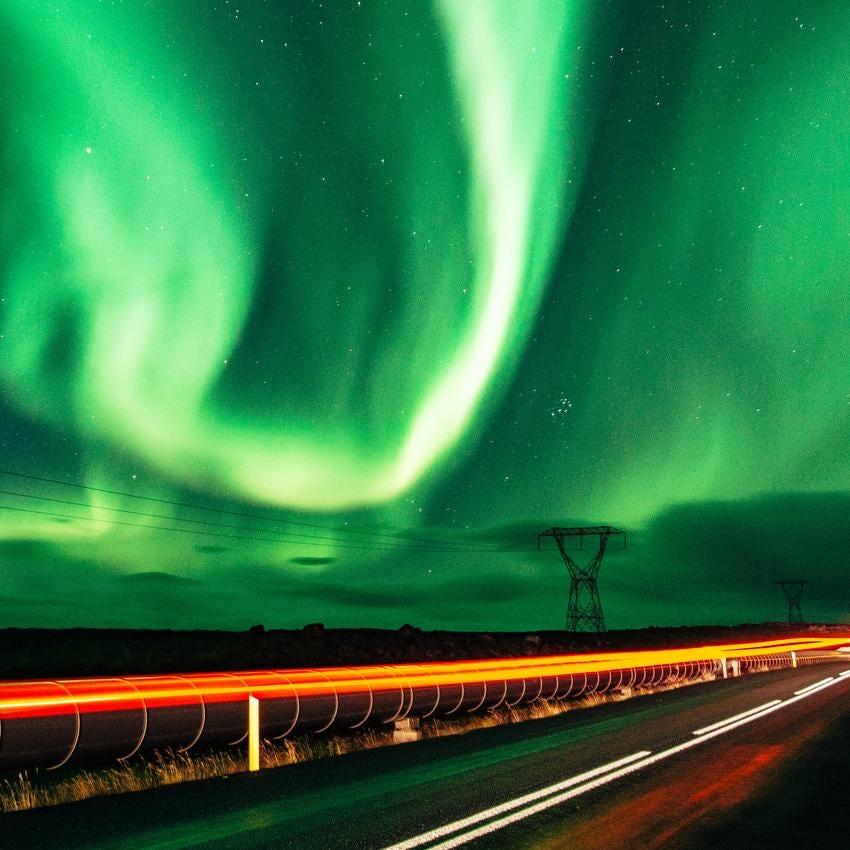 The aurora over Iceland.