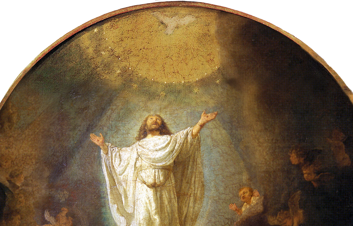"""Rembrant's painting """"The Ascension of Christ"""""""