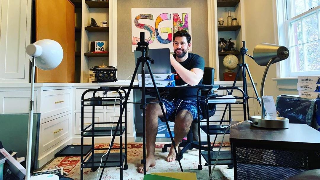 The Office' star John Krasinski launches YouTube channel to spread only good  news   The National