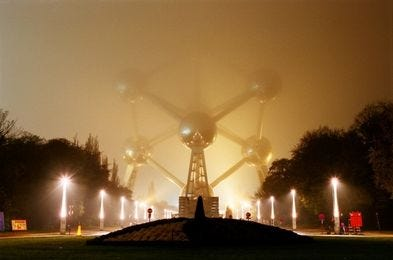 May be an image of outdoors and the Atomium