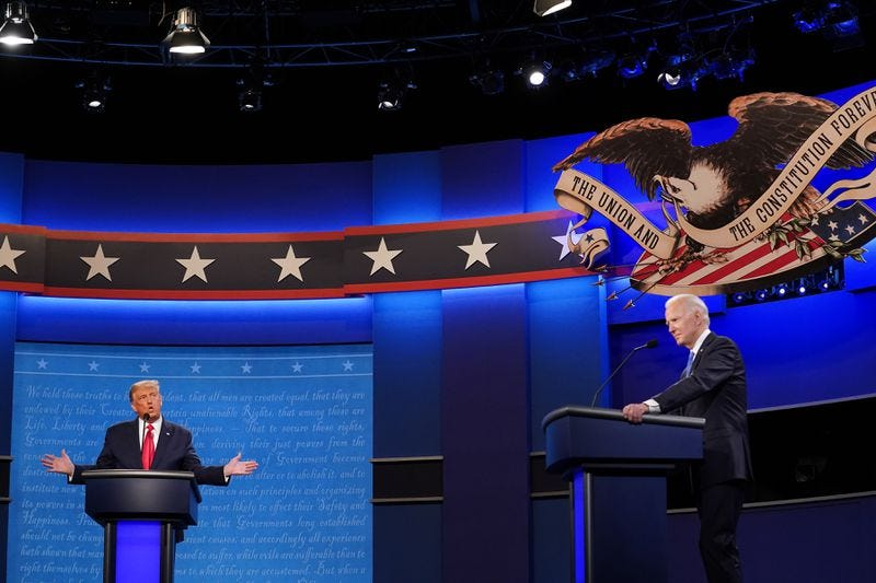 Trump and Biden clash over COVID-19 in final debate, showcase vastly  different visions for nation - Chicago Tribune