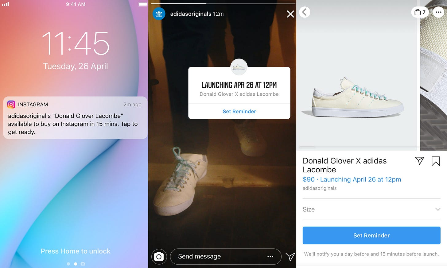 Product Launch Reminders on Instagram