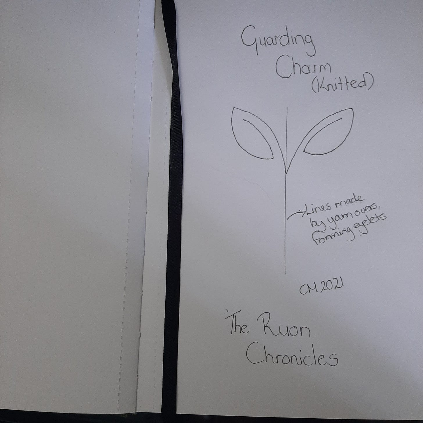Drawing showing guardian charm design