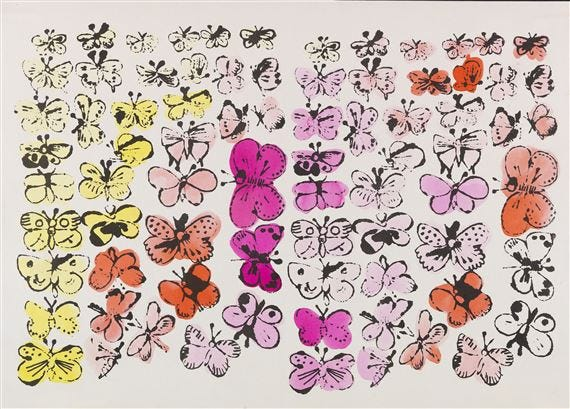 Warhol Andy | Happy Butterfly Day (Circa 1955) | MutualArt