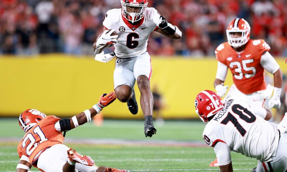 Georgia Bulldogs versus Clemson Tigers highlights