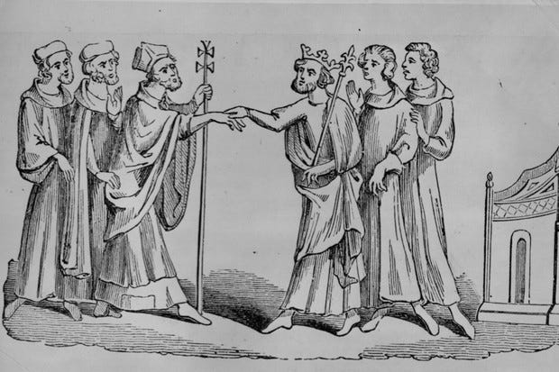 Image result for handshakes in history