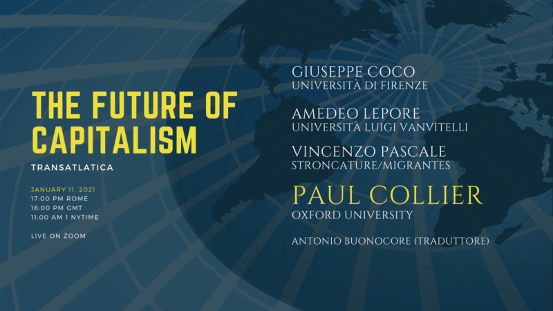 """""""The future of capitalism"""" con Paul Collier"""
